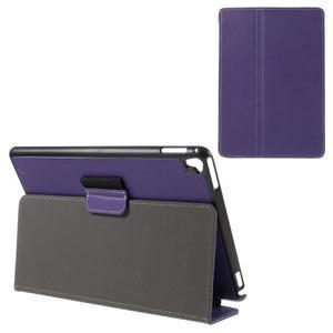 Clothy PU kožené puzdro pre iPad Pro 9.7 - fialové - 1