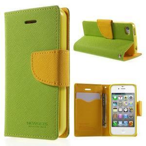 Fancys PU kožené puzdro pre iPhone 4 - zelené - 1