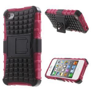 Outdoor odolný obal na mobil iPhone 4 - rose - 1