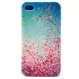 Emotive gélový obal pre mobil iPhone 4 - kvetoucí vetvičky - 1
