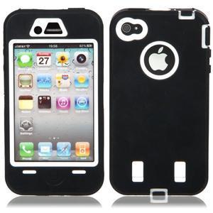 Armor vysoce odolný obal pre iPhone 4 - čierne - 1