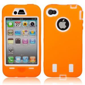 Armor vysoce odolný obal pre iPhone 4 - oranžový - 1
