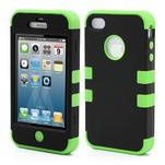 Extreme odolný kryt 3v1 na mobil iPhone 4 - zelený - 1/5