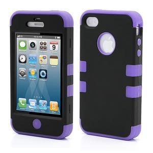 Extreme odolný kryt 3v1 na mobil iPhone 4 - fialový - 1