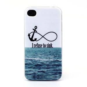 Emotive gelový obal na mobil iPhone 4 - kotva - 1