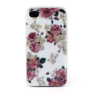 Emotive gelový obal na mobil iPhone 4 - květiny