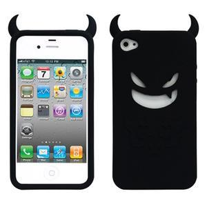 Devil silikónový obal pre iPhone 4 - čierne