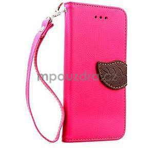 PU kožené peňaženkové puzdro pre iPhone 6s a 6 - rose - 1