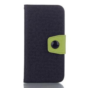 Dvojfarebné peňaženkové puzdro pre iPhone 6 a iPhone 6s - čierne/ zelené - 1