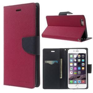 Peňaženkové puzdro pre iPhone 6 Plus a 6s Plus -  rose - 1