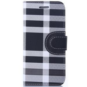 Peňaženkové puzdro Fancy na iPhone 6 Plus a 6s Plus - čiernobiele - 1