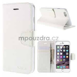 Peňaženkové puzdro pre iPhone 6 Plus a 6s Plus - biele - 1