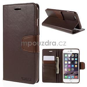 Peňaženkové puzdro pre iPhone 6 Plus a 6s Plus - hnedé - 1