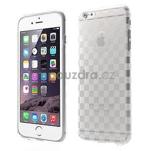 Transparentný kockovaný gélový obal na iPhone 6 Plus a 6s Plus - 1