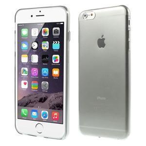 Ultra slim lesklý gélový obal na iPhone 6 Plus a 6s Plus - šedý - 1