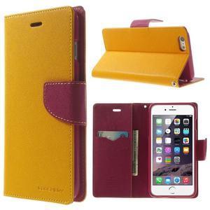 Peňaženkové puzdro pre iPhone 6 Plus a 6s Plus -  žlté - 1