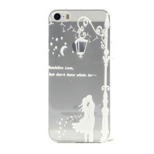 Transparentný gélový obal pre mobil iPhone SE / 5s / 5 - láska pod lampou - 1