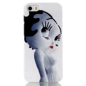 Gelový obal na mobil iPhone SE / 5s / 5 - kočička - 1
