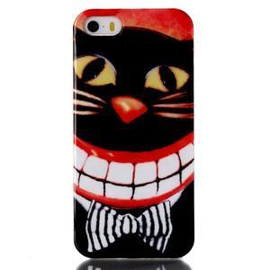 gélový obal pre mobil iPhone SE / 5s / 5 - mačka - 1
