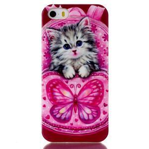Gelový obal na mobil iPhone SE / 5s / 5 - koťátko - 1