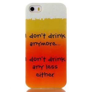 gélový obal pre mobil iPhone SE / 5s / 5 - drink - 1