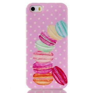 Gelový obal na mobil iPhone SE / 5s / 5 - makrónky - 1