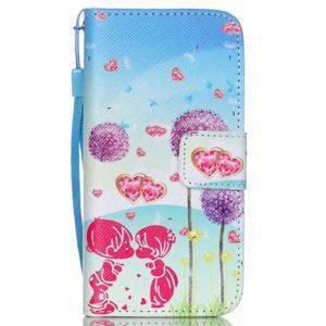 Peňaženkové puzdro pre mobil iPhone SE / 5s / 5 - púpavy - 1