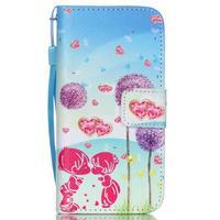Peňaženkové puzdro pre mobil iPhone SE / 5s / 5 - púpavy - 1/7