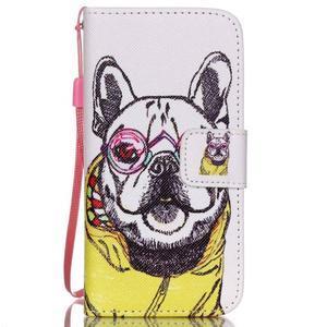 Peňaženkové puzdro pre mobil iPhone SE / 5s / 5 - buldog - 1