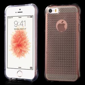 Diamnods gelový obal se silným obvodem na iPhone SE / 5s / 5 - transparentní - 1