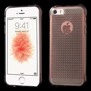 Diamonds gélový obal se silným obvodom na iPhone SE / 5s / 5 - sivý - 1