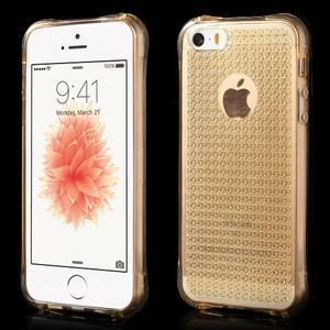 Diamnods gelový obal se silným obvodem na iPhone SE / 5s / 5 - zlatý - 1