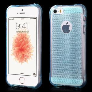 Diamnods gelový obal se silným obvodem na iPhone SE / 5s / 5 - modrý - 1