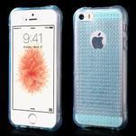 Diamnods gelový obal se silným obvodem na iPhone SE / 5s / 5 - modrý - 1/5