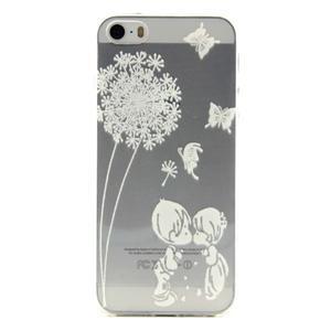 Transparentní gelový obal na mobil iPhone SE / 5s / 5 - láska - 1
