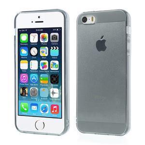 gélový Transparentný obal pre iPhone SE / 5s / 5 - sivý - 1