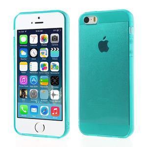 Gelový transparentní obal na iPhone SE / 5s / 5 - modrozelený - 1