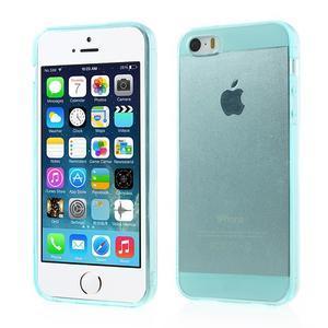 gélový Transparentný obal pre iPhone SE / 5s / 5 - cyan - 1