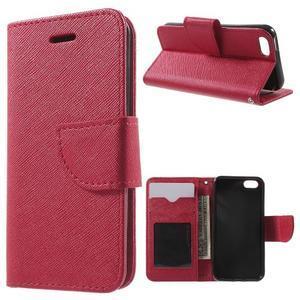 Cross PU kožené pouzdro na iPhone SE / 5s / 5 - červené - 1