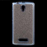 Povrchove trblietavý gélový obal pre mobil Lenovo A2010 - šedý - 1/5