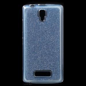Povrchově třpytivý gelový obal na mobil Lenovo A2010 - tmavěmodrý - 1