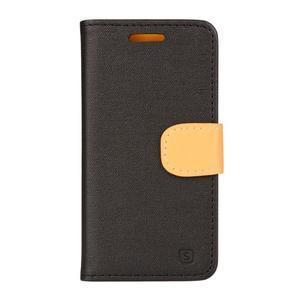 Clothy PU kožené na mobil Lenovo A2010 - černé - 1