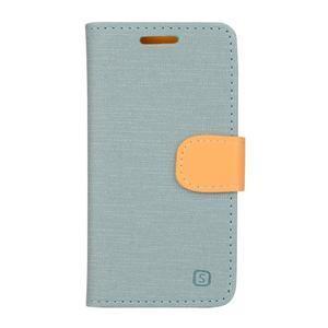 Clothy PU kožené na mobil Lenovo A2010 - světlemodré - 1