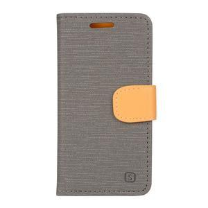 Clothy PU kožené pre mobil Lenovo A2010 - šedé - 1
