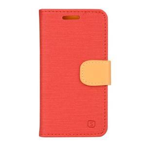 Clothy PU kožené na mobil Lenovo A2010 - červené - 1