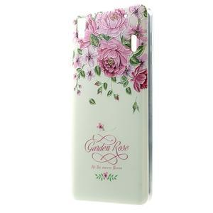 Softy gelový obal na mobil Lenovo A7000 / K3 Note - zahradní růže - 1