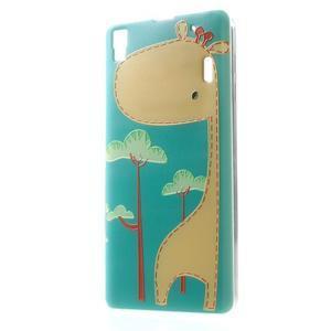Softy gélový obal pre mobil Lenovo A7000 / K3 Note - žirafa - 1