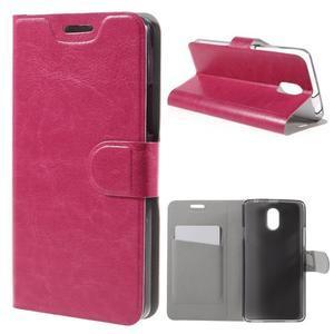 Horse peňaženkové puzdro pre Lenovo Vibe P1m - rose - 1