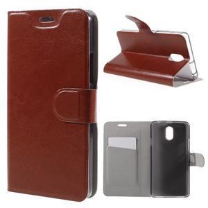 Horse peňaženkové puzdro pre Lenovo Vibe P1m - hnedé - 1