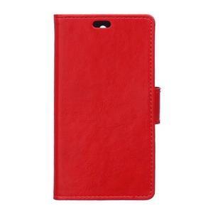 GX koženkové peňaženkové na mobil Lenovo Vibe P1m - červené - 1